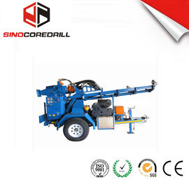 200M Protable Small Trailer  Hydraulic Water Well Drilling Rig Borehole Drilling Equipment